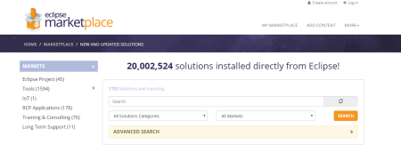 Eclipse Marketplace - 20 million